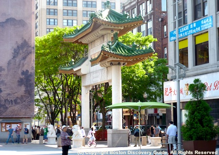 Gate to Boston's Chinatown, at the south end of the Greenway