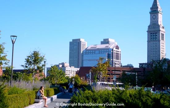 Boston's Back Bay Fens - Footbridge over Muddy River