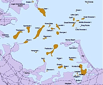 Boston Harbor Islands National Recreational Area Map