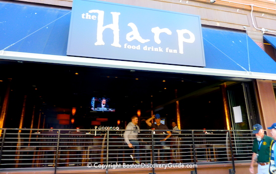 the harp sports bar near td garden and site of many celtics and