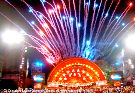 July 4th fireworks light up the Hatch Shell