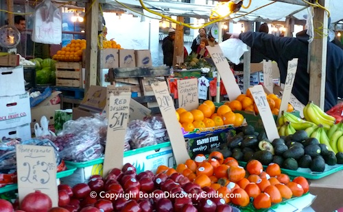 Haymarket Boston vendors sell produce at cheap prices