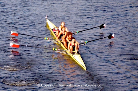 Team of 4 in the Head of the Charles Regatta