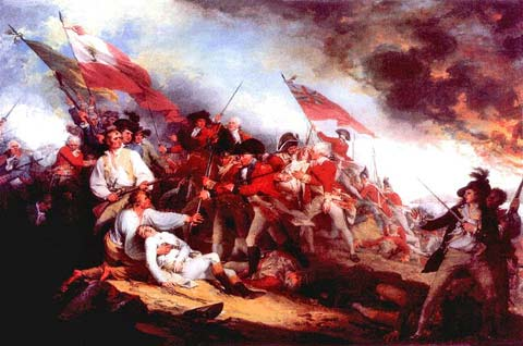 Death of General Warren at the Battle of  Bunker Hill, painted by John Trumbull