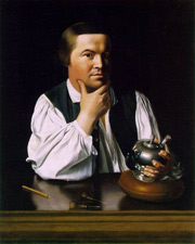 Paul Revere, painted by John Singleton Copley, 1776