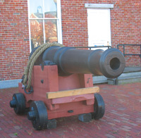 Cannon in Charlestown Navy Yard