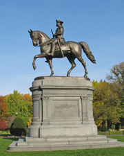 Statue of George Washington in Boston Common