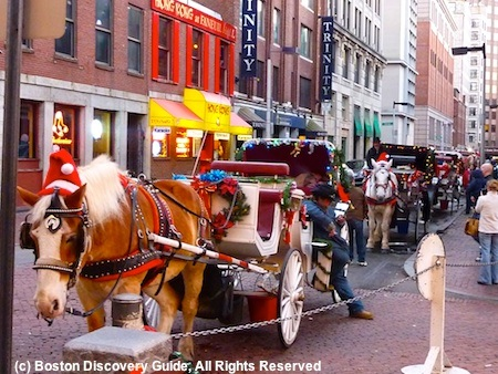 Horse drawn carriage rides in Boston MA