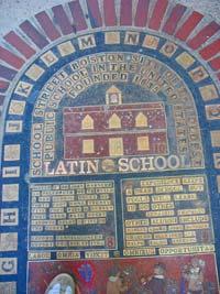 Boston Latin School Plaque marks original site