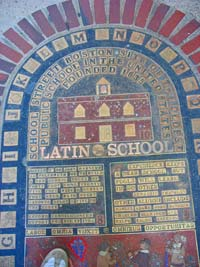 Plaque at original site of Boston Latin School in Boston