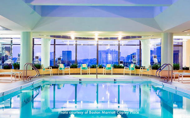Hotel with indoor swimming pool near Boston's First Night celebration