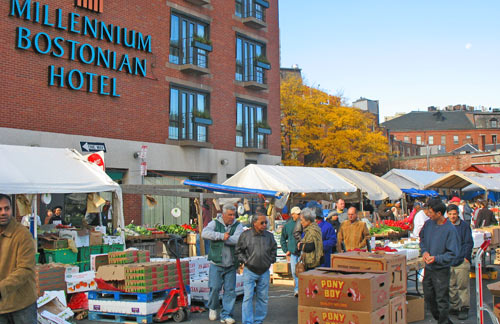 Photo - Millennium Bostonian Hotel in Boston Mass is next to Haymarket, the city's centuries-old historic market