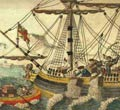 Boston Tea Party - Old Copperplate Engraving