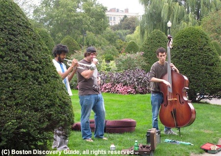 Free concert in Boston Public Garden