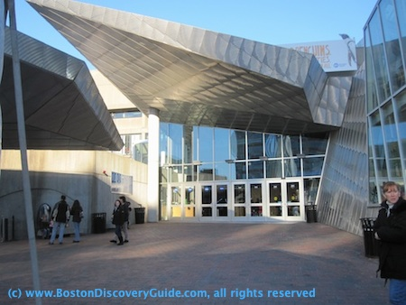 Entrance to New England Aquarium in Boston