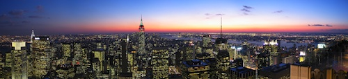 Photo of New York from Top of the Rock / New York Tourist Attractions -  www.boston-discovery-guide.com