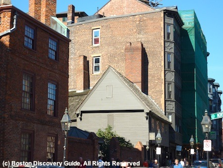 Paul Revere's house, open for tours in the  North End
