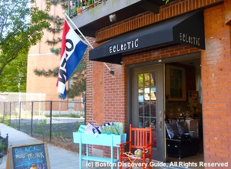 Small boutique in Boston's North End neighborhood