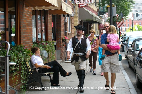 Colonial reenactor - Boston's North End