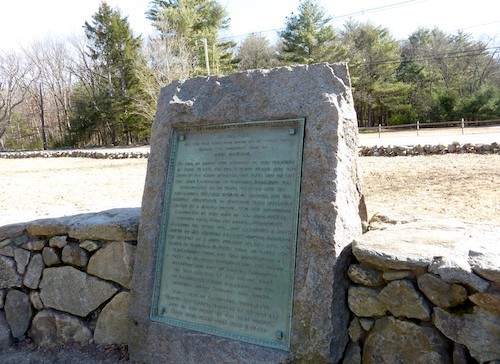 Photo of Paul Revere Capture Site near Concord, Massachusetts / www.boston-discovery-guide.com