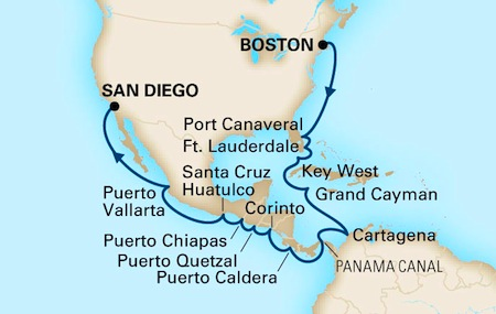 Cruise ship in Caribbean / Cruises from Boston / www.boston-discovery-guide.com
