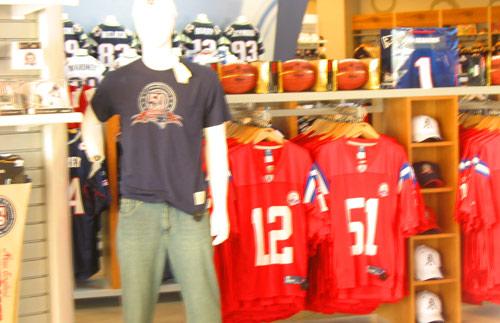 Photo - Boston Patriots sports gear in Patriots Place Mall