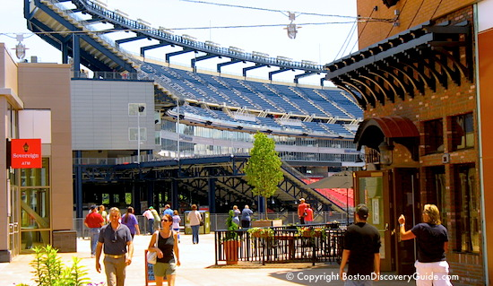 Photo - Patriot Place shopping mall leads directly to Gillette Stadium, near Boston Massachusetts