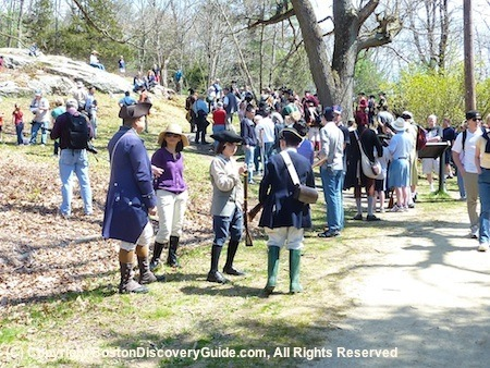 Spectators and Reenactors waiting for Parkers Revenge to begin