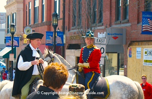 Photo of Reenactment of Paul Revere's ride to Concord near Boston Massachusetts