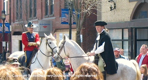 Reenactment of Paul Revere's ride