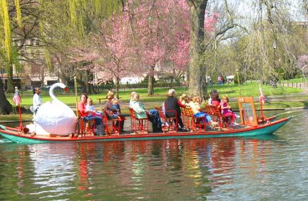 Swan boat in Boston's Public Garden