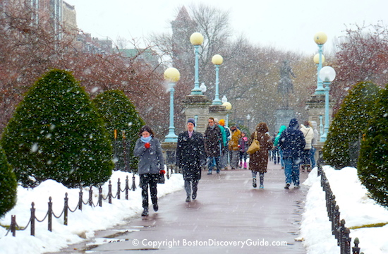 Boston Weather in February - snow!