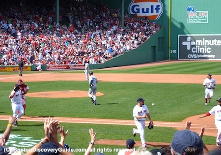 Boston Red Sox play the Tampa Bay Rays at Fenway