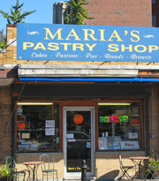 Maria's Pastry Shop in Boston's North End serves authentic Italian pastries