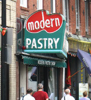 You'll find some of the best cannoli in Boston at Modern Pastry in the North End