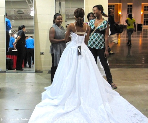 Gorgeous wedding gown at Running of the Brides in Boston