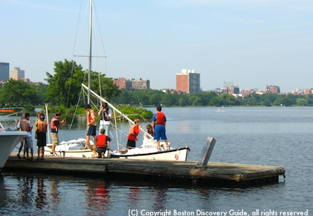 Sailing in Boston at Community Boating