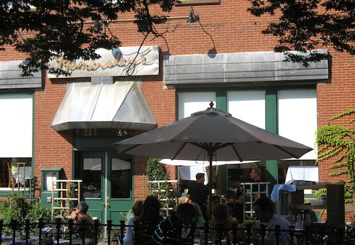 Photo of Outdoor dining at Hamersley's Bistro on Tremont Street in Boston / South End Restaurants - www.boston-discovery-guide.com