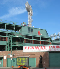 Fenway Park in Boston, home of the Boston Red Sox baseball team