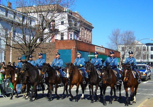 Equine marchers in Boston's St Patricks Day Parade
