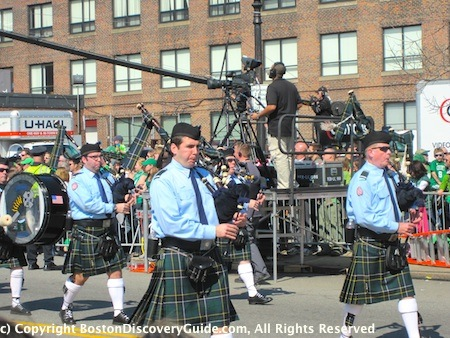 St Patricks Day Parade Boston - Bagpipes