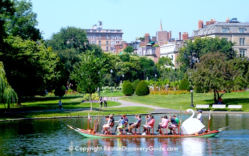 Top September events and activities - Swan Boat rides in Boston's Public Garden