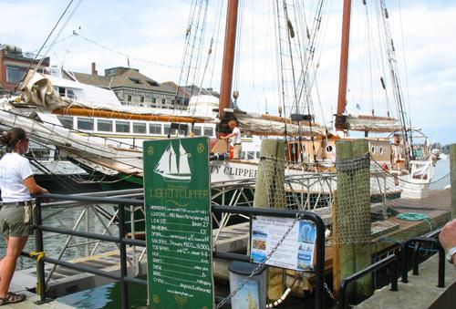 Tall ship cruise in Boston - Liberty Clipper ship at Long Wharf