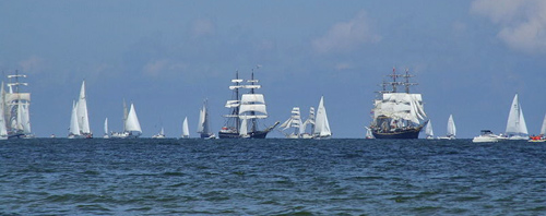 Tall ship cruise - race