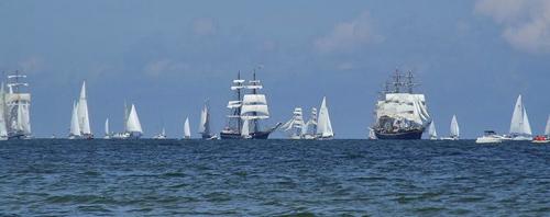 Tall ship cruise - race