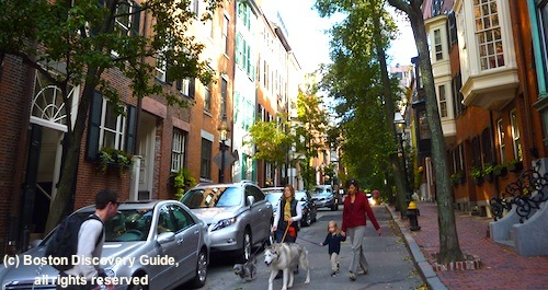 Quiet side street in Boston's Beacon Hill