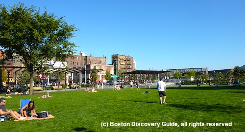 Picnic on Rose Kennedy Greenway, near the North End and Faneuil Hall Marketplace