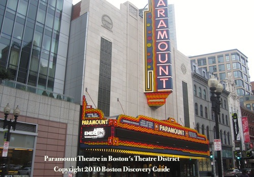 Photo of the newly renovated Paramount Theatre in Boston's Theater District