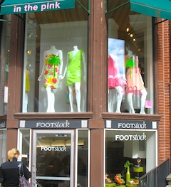 Photo of Newbury Street boutiques in Boston