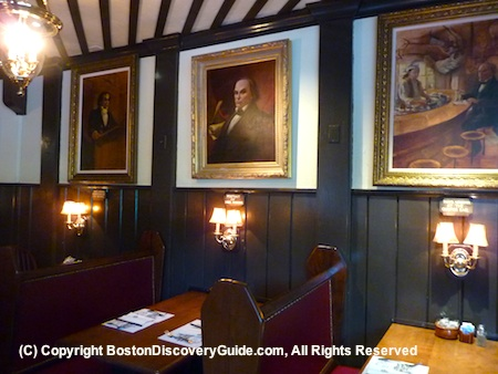 Paintings of Daniel Webster in one of the upstairs dining rooms